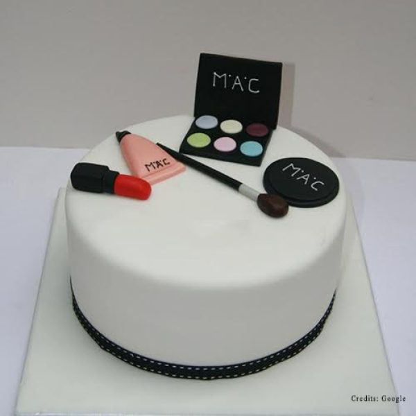 Fondant Birthday Cakes Makeup Kit Cakes In Pune For Woman Adult