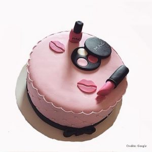 Makeup design cake pune