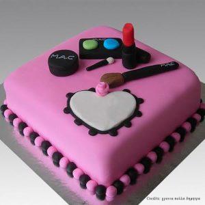 Pink Makeup design cake pune