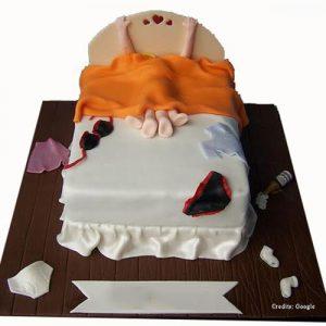 Couple On Bed Cake Pune