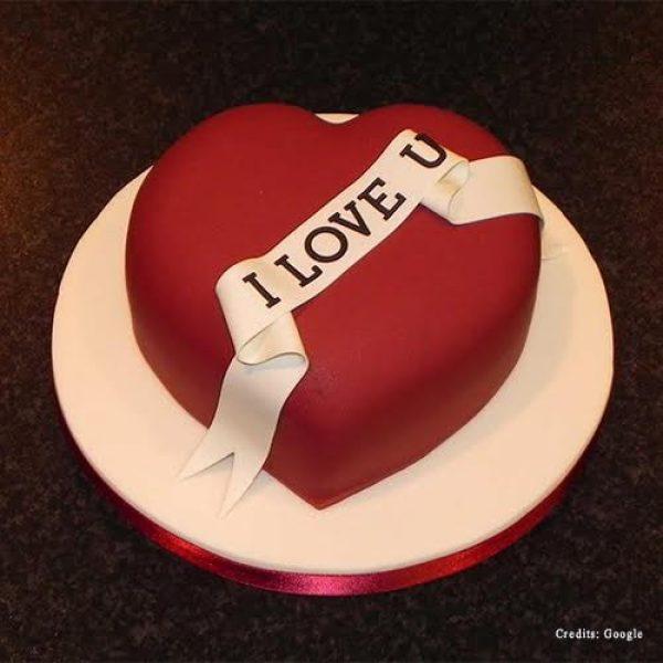 I Love You Cake Pune