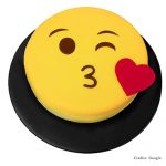 Kissing Face Emoji Cake Pune